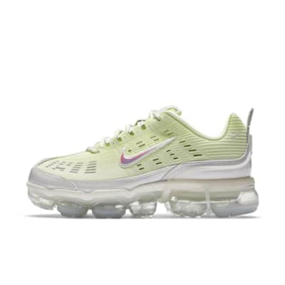 Nike Air Vapormax 360 Women's Shoe in lime green.