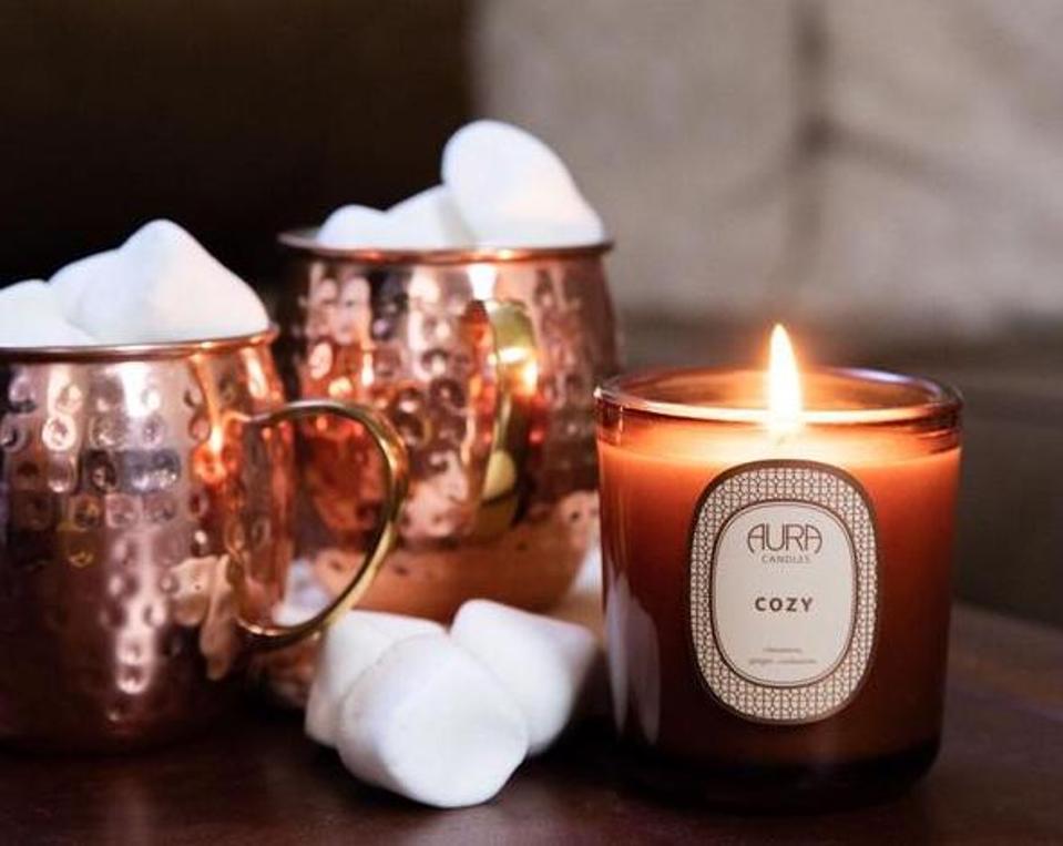aura cozy candle