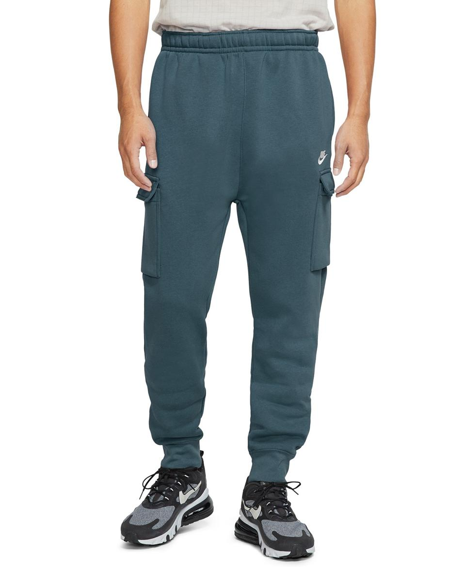 Green Nike sweatpants.