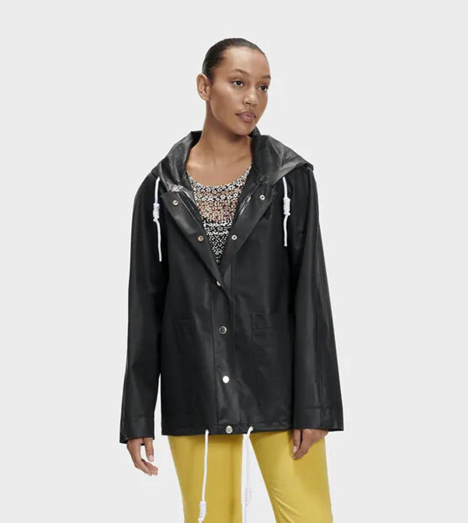 Ugg black raincoat.