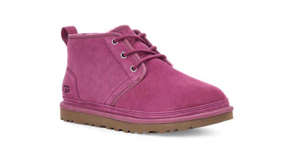Pink chukka styled shoe.