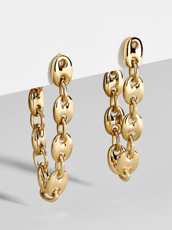 Gold vermeil chain earrings.