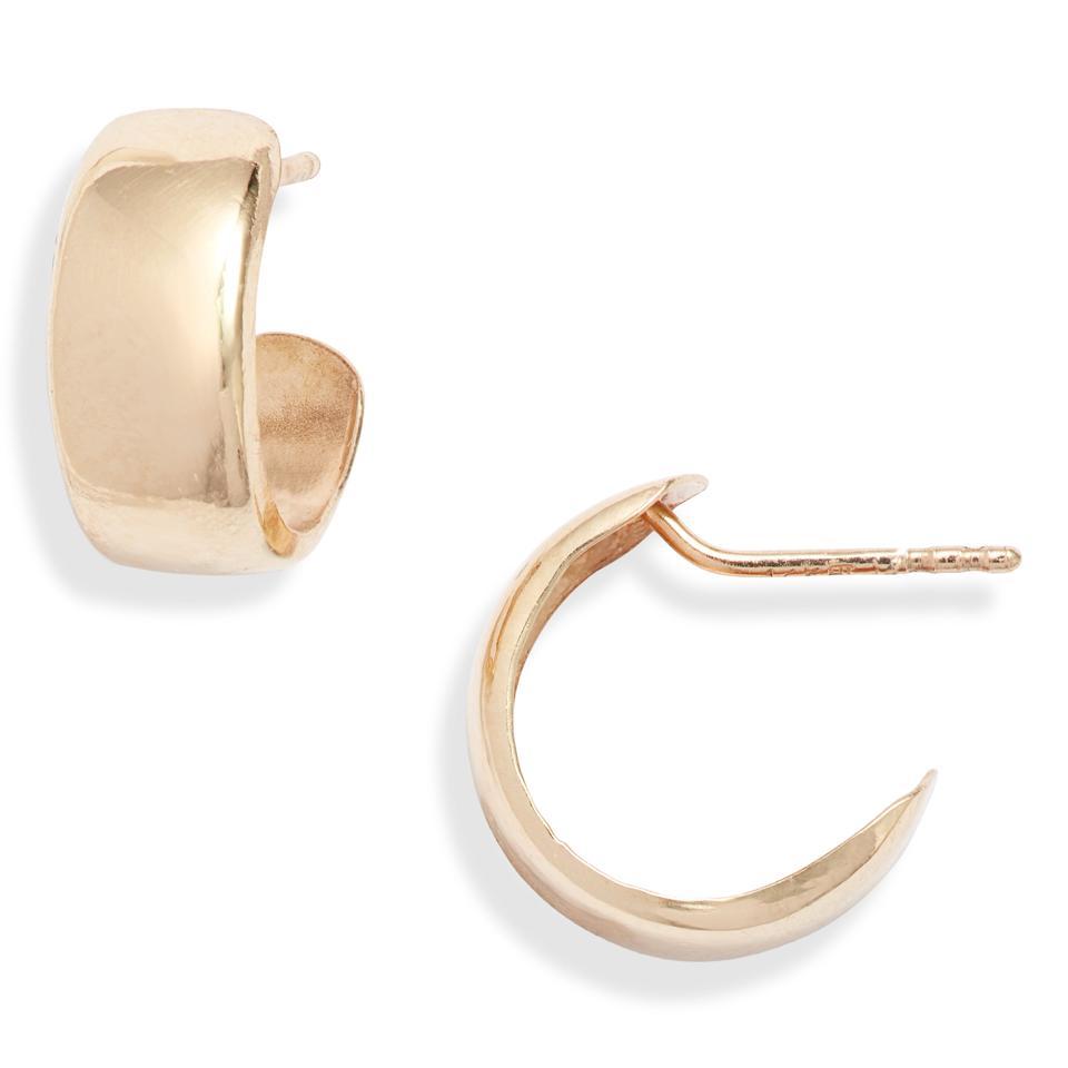 Bony Levy 14K Gold Small Flat Wide Hoop Earrings (Nordstrom Exclusive)