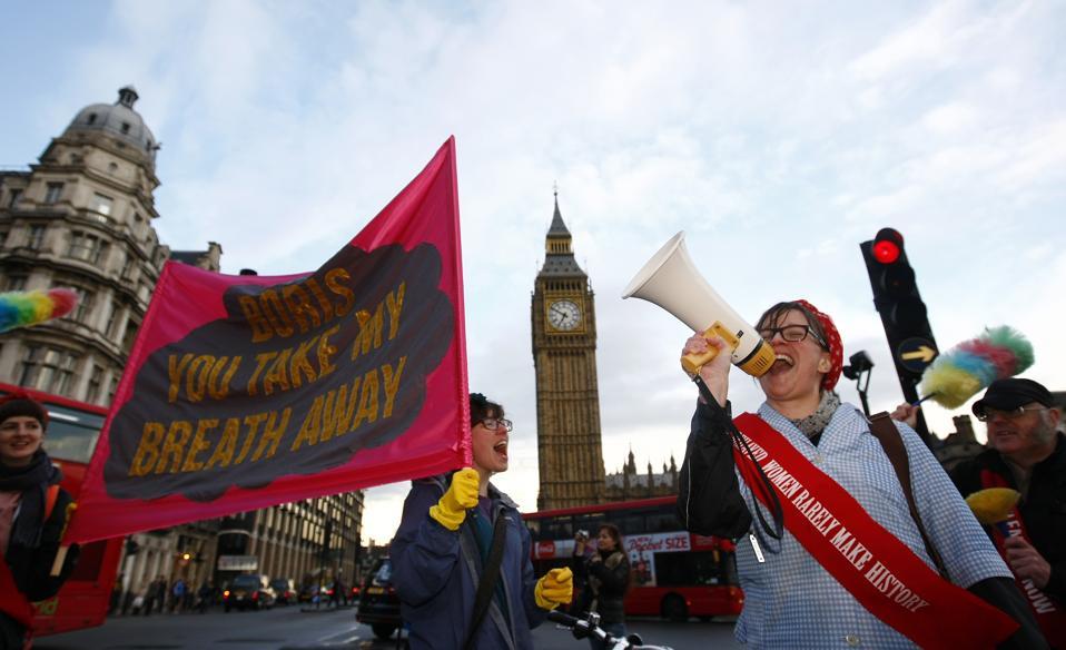 Britain Air Pollution Protest