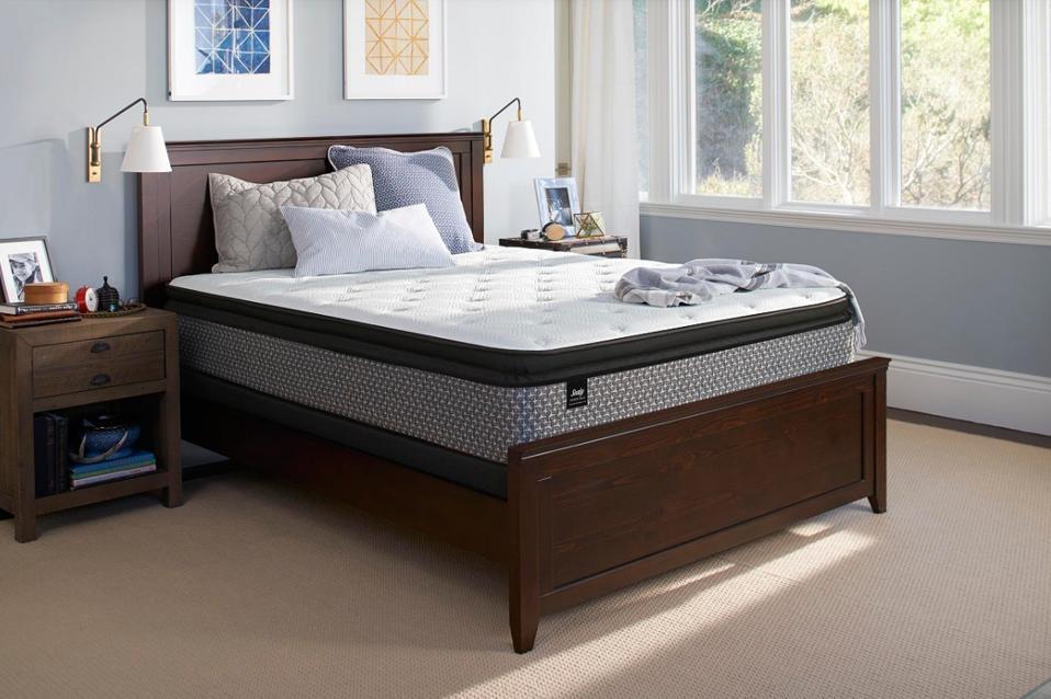 Sealy Essentials Coral 13″ Plush Euro Pillow Top Mattress - King