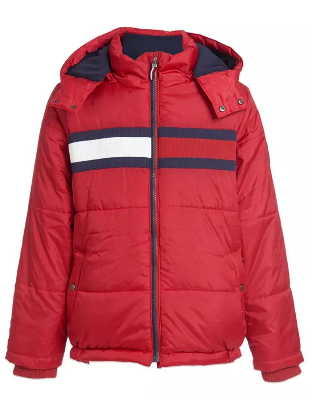 Tommy Hilfiger Big Boys Flag Puffer Jacket