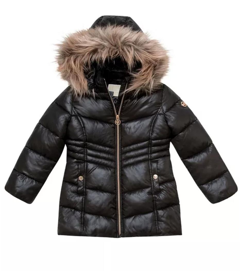 Michael Kors Little Girls Stadium Length Puffer Jacket