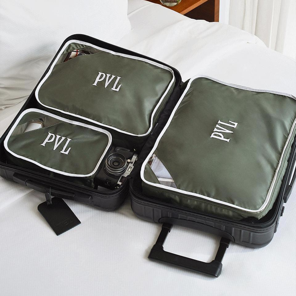 packing cubes in a suitcase