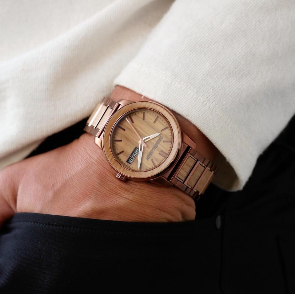watch, wood, kentucky, recycle, men's watch