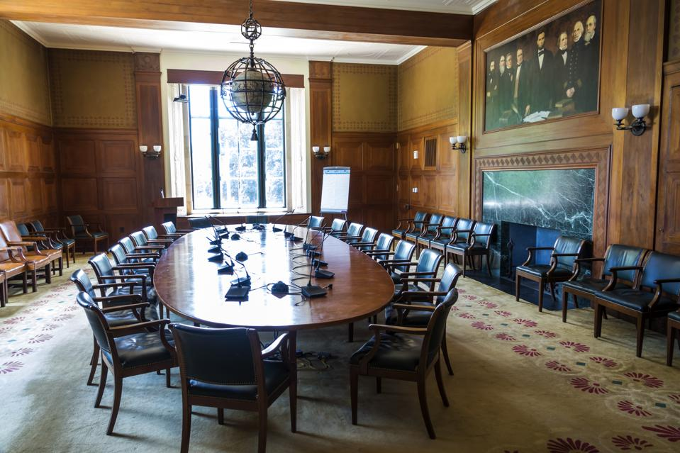 Washington DC, National Academy of Science, Boardroom with Founders' Portrait, Albert Herter