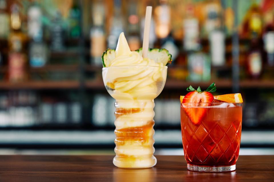 fun cocktails at pool bar