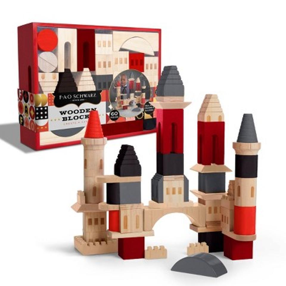 FAO Schwarz Create a Castle Wooden Blocks - 60pc