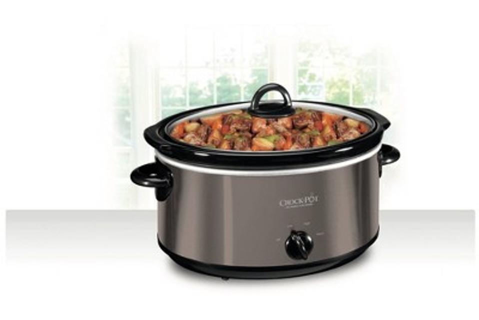 Crock Pot 6qt Manual Slow Cooker - Black/Stainless Steel