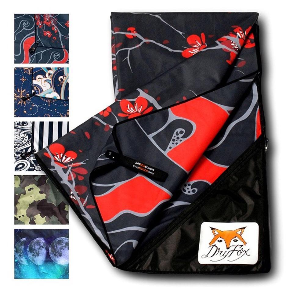 Quick Dry Microfiber Travel Towel With Pocket, DryFoxCo