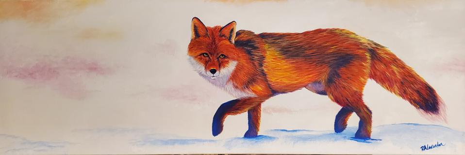 A painting of a fox by Ra'Chel Alexander