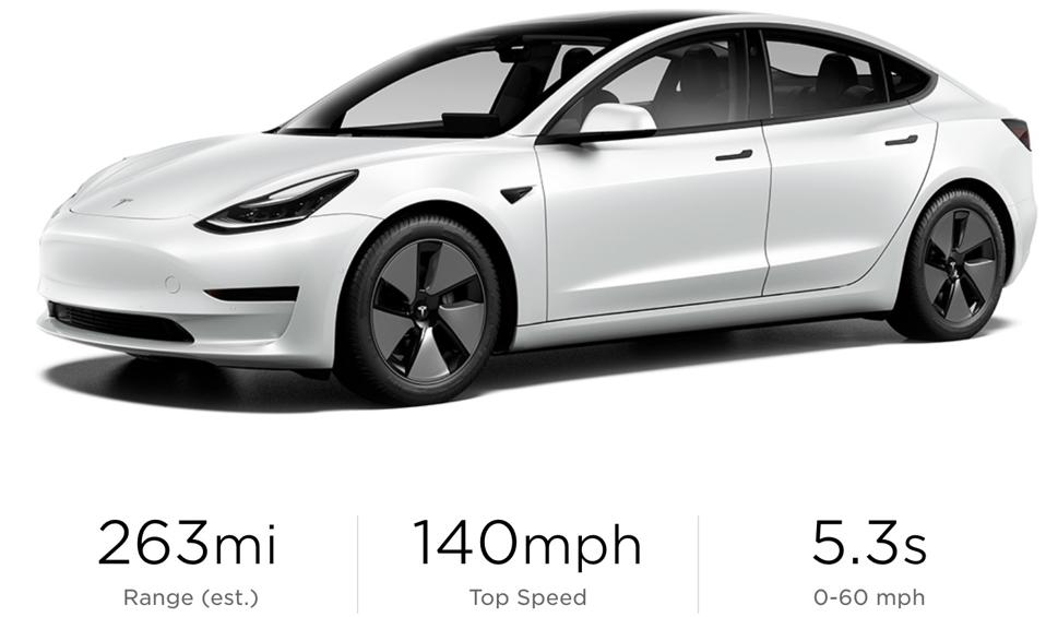 Tesla Model 3 is actually affordable and at $36,490 has decent range.