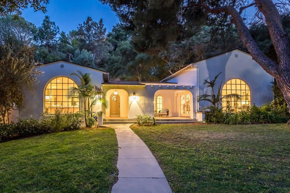 A house among trees in the Los Feliz neighborhood of Los Angeles.