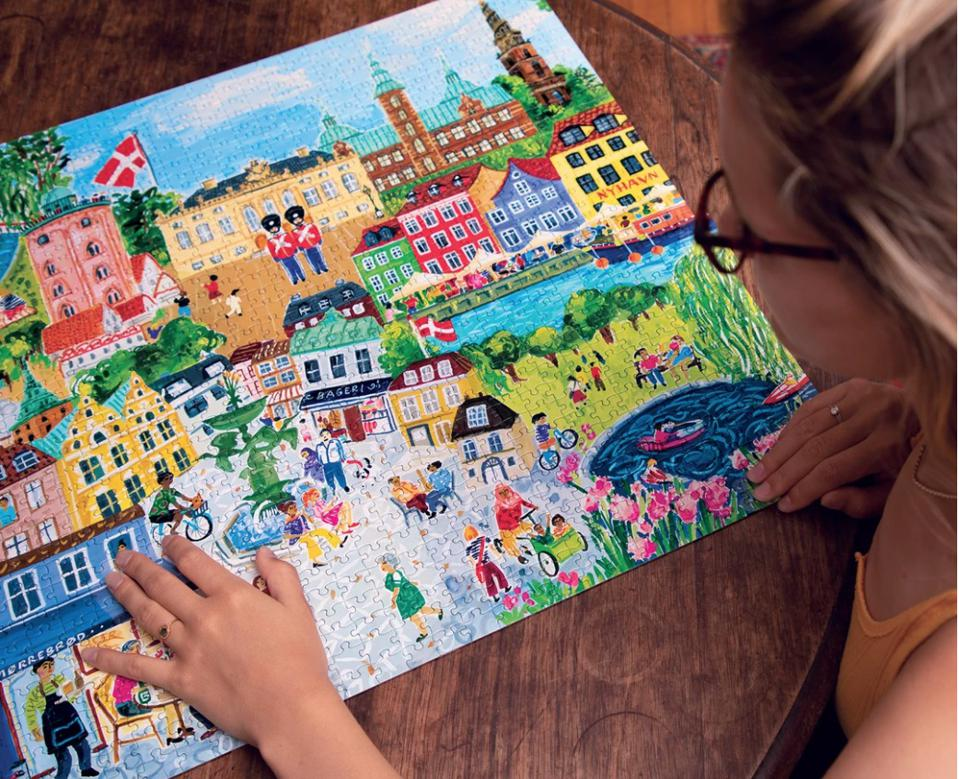 Puzzles like ″Copenhagen″ from Piece & Love by eeBoo just may inspire your next trip.