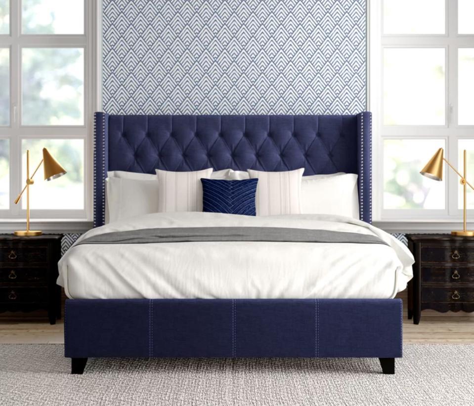 Dallas Upholstered Platform Bed