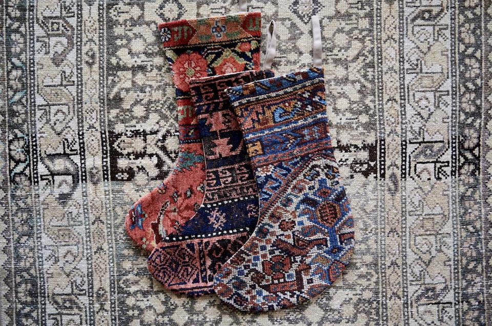 District Loom Stockings made from Persian rugs