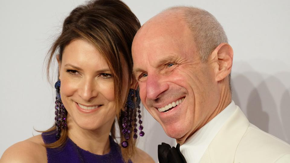 Jonathan Tisch (with wife Lizzie Tisch) attends 15th Annual Elton John AIDS Foundation Benefit (Photo by J. Countess/Getty Images)