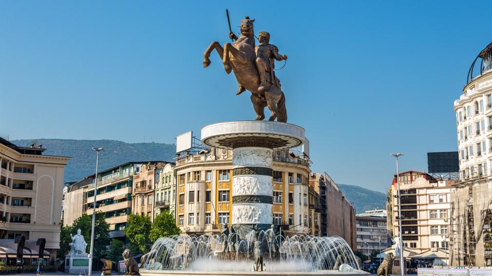 Alexander the Great Monument in Skopje - Macedonia