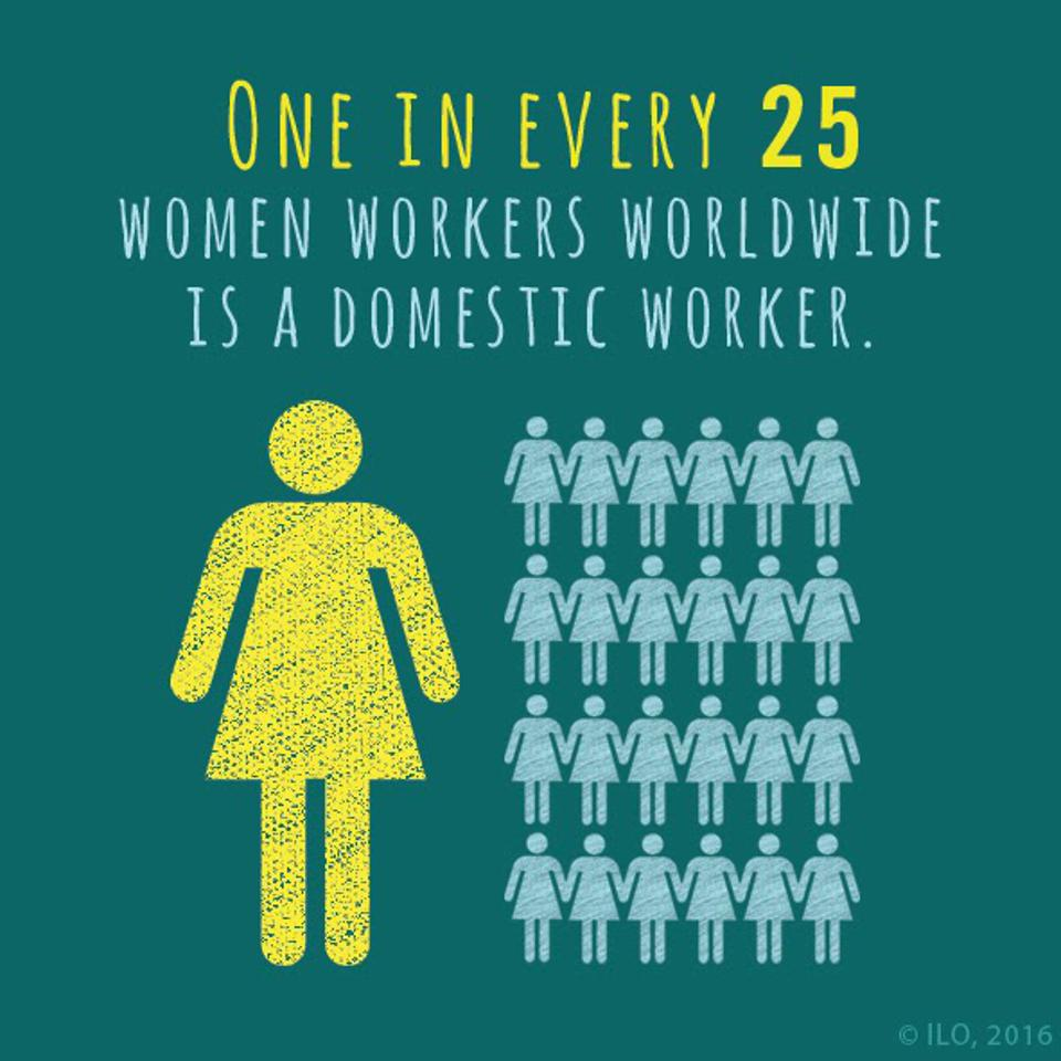 One in every 25 women workers worldwide is a domestic worker.