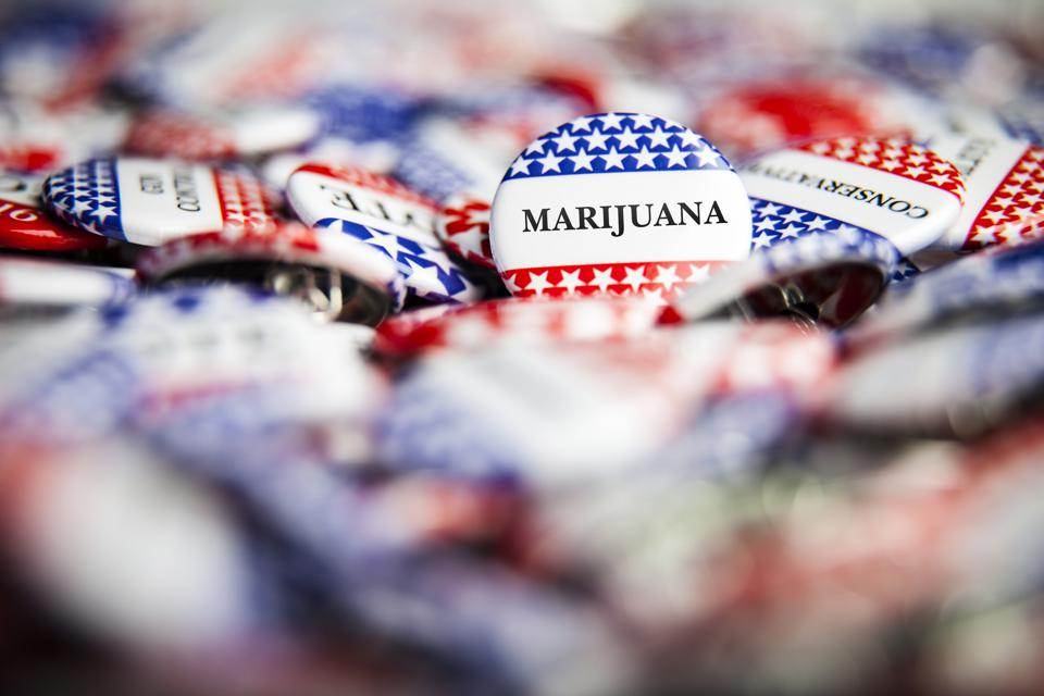 Election Vote Buttons - Marijuana