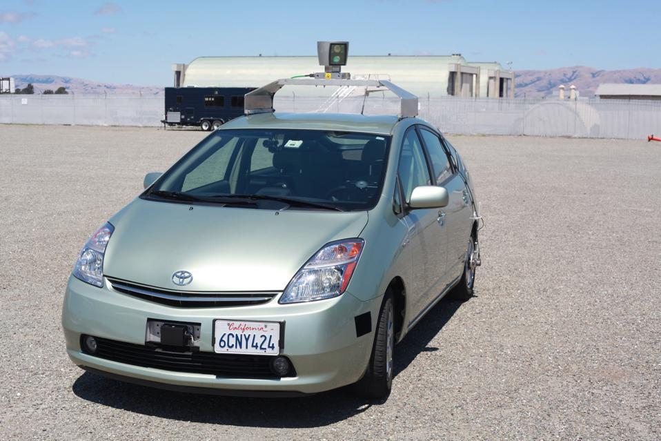 Prius with LIDAR