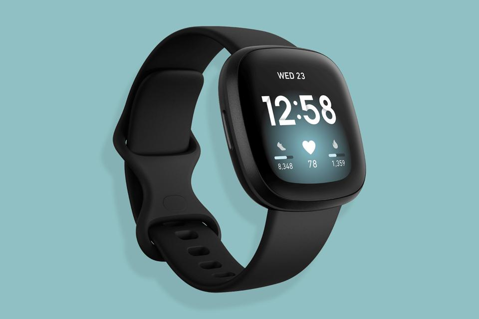 A promo image of the Fitbit Versa 3.