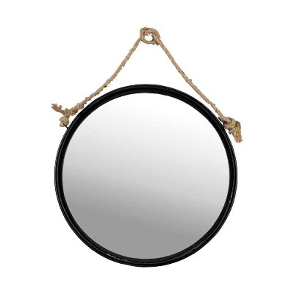 Metal Round Hanging Mirror Wall Sign Panels Clear 18″ x 18″ - VIP Home & Garden