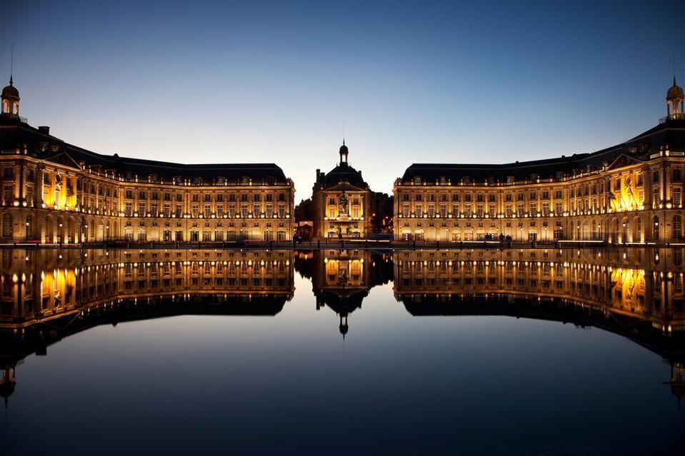 Place de la Bourse, Bordeaux city, France