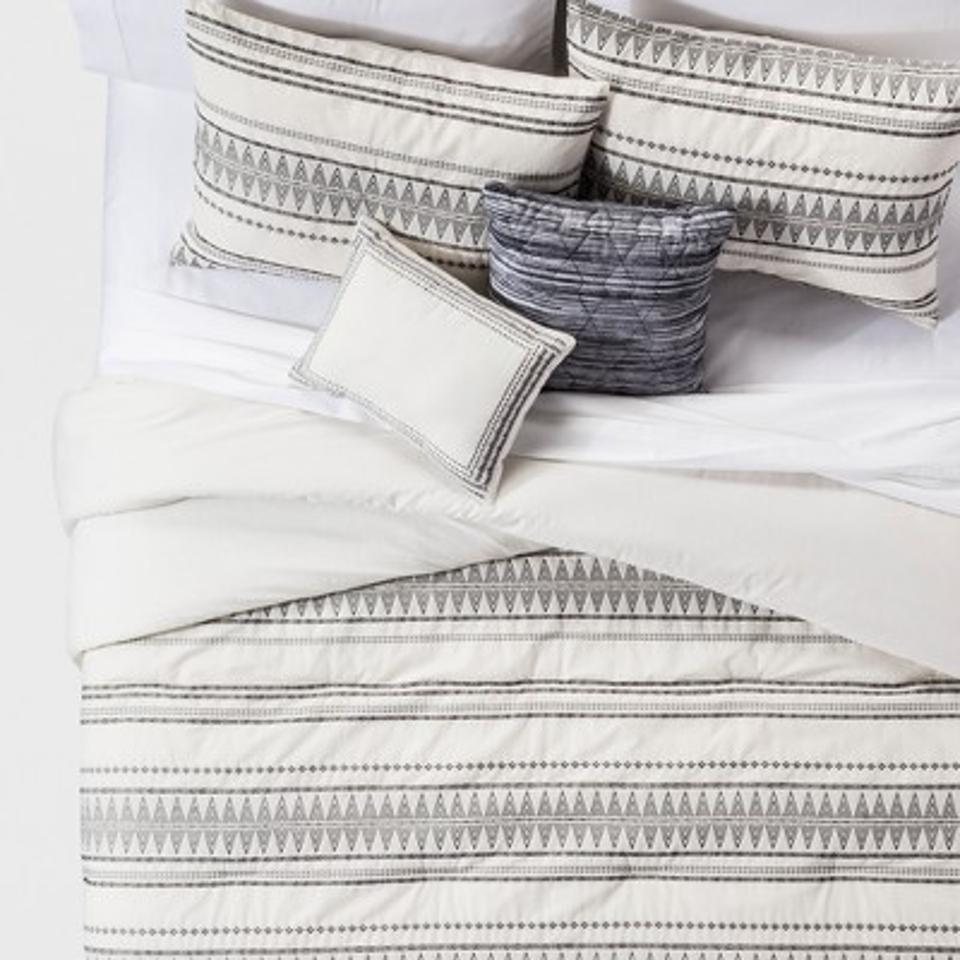 Cream Tatiana Global Woven Stripe Cotton Comforter Set 5pc - Threshold