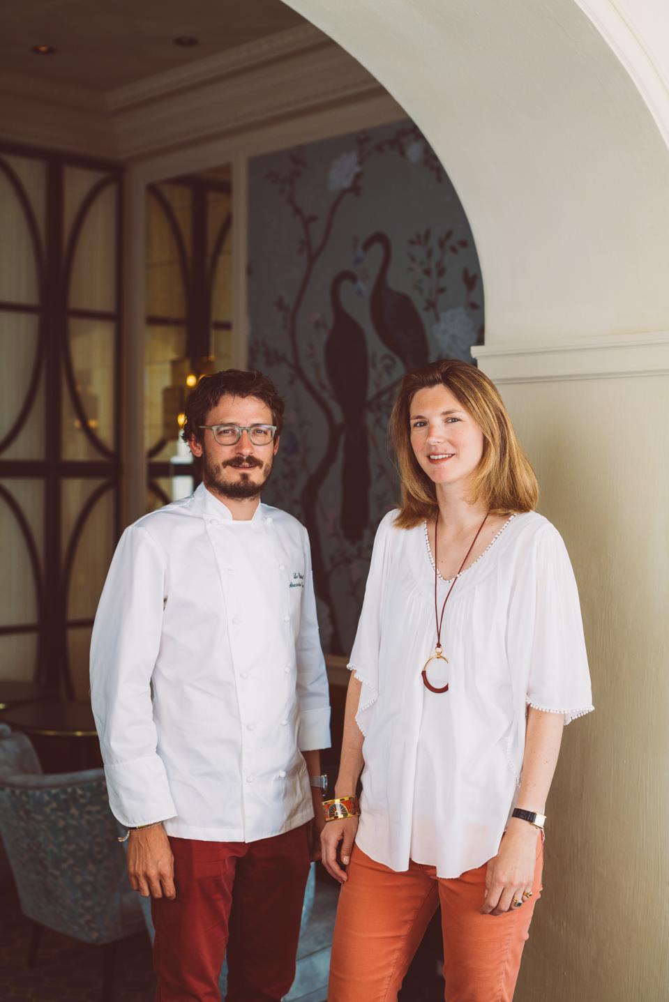 Owner Stéphanie de Boüard-Rivoal and Chef Alexandre Baumard