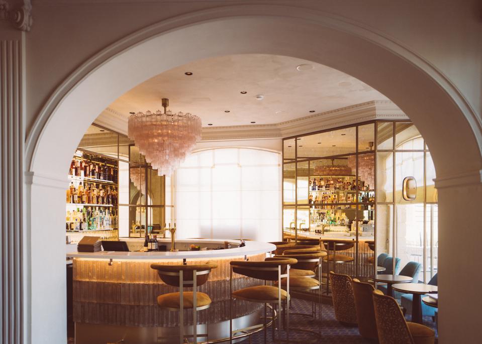 The bar at Le Gabriel, Bordeaux city