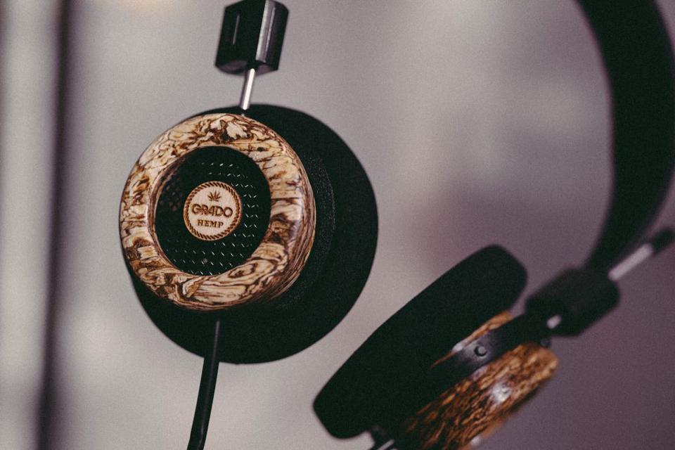 Close up of The Hemp Headphone Limited Edition earpads
