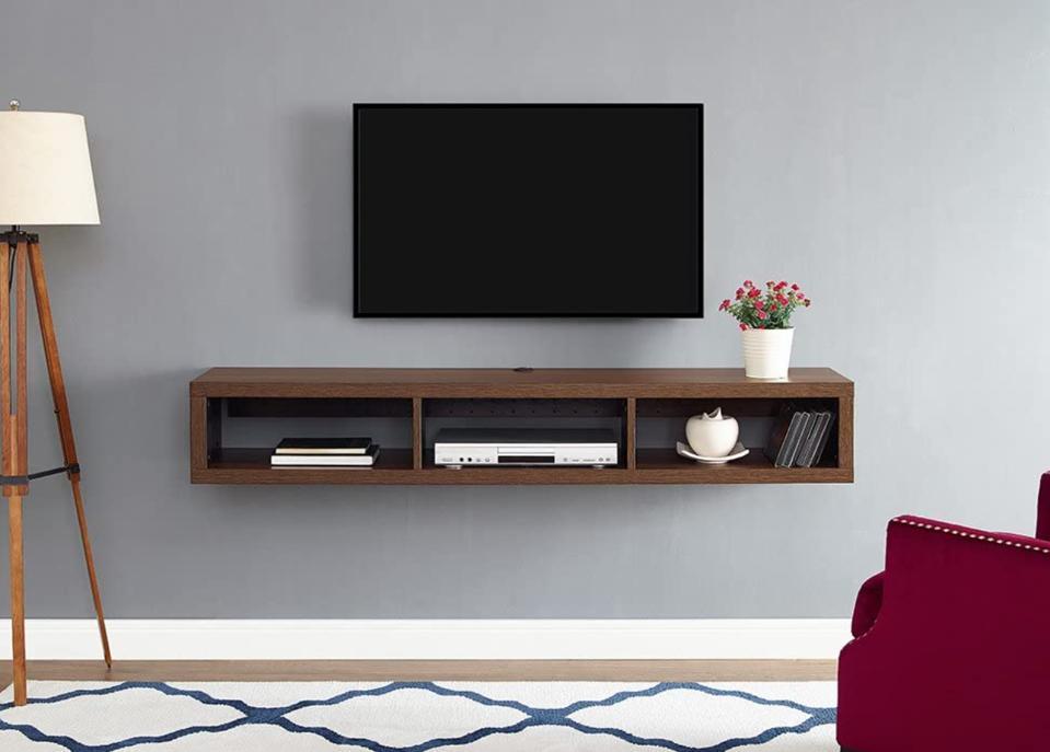 Martin Furniture Floating TV Console, 60″, Columbian Walnut