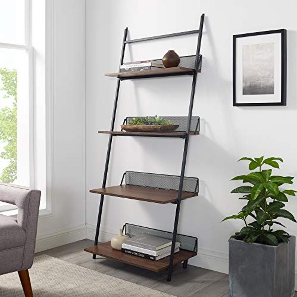 Walker Edison Modern Industrial Metal Bookcase