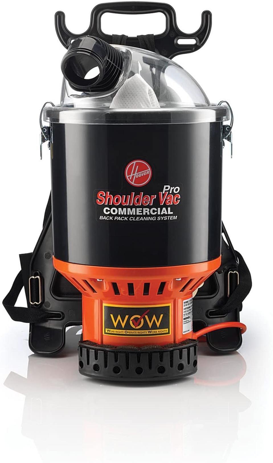a backpack vacuum