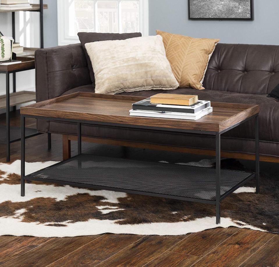 Walker Edison Furniture Industrial Coffee Table