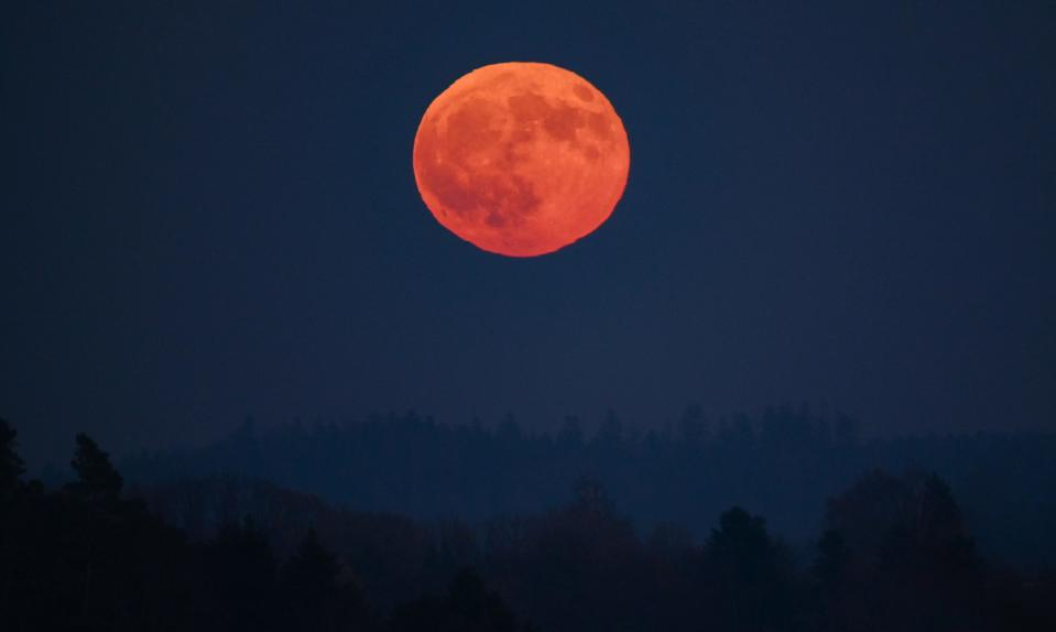 Red Moonrise in Germany