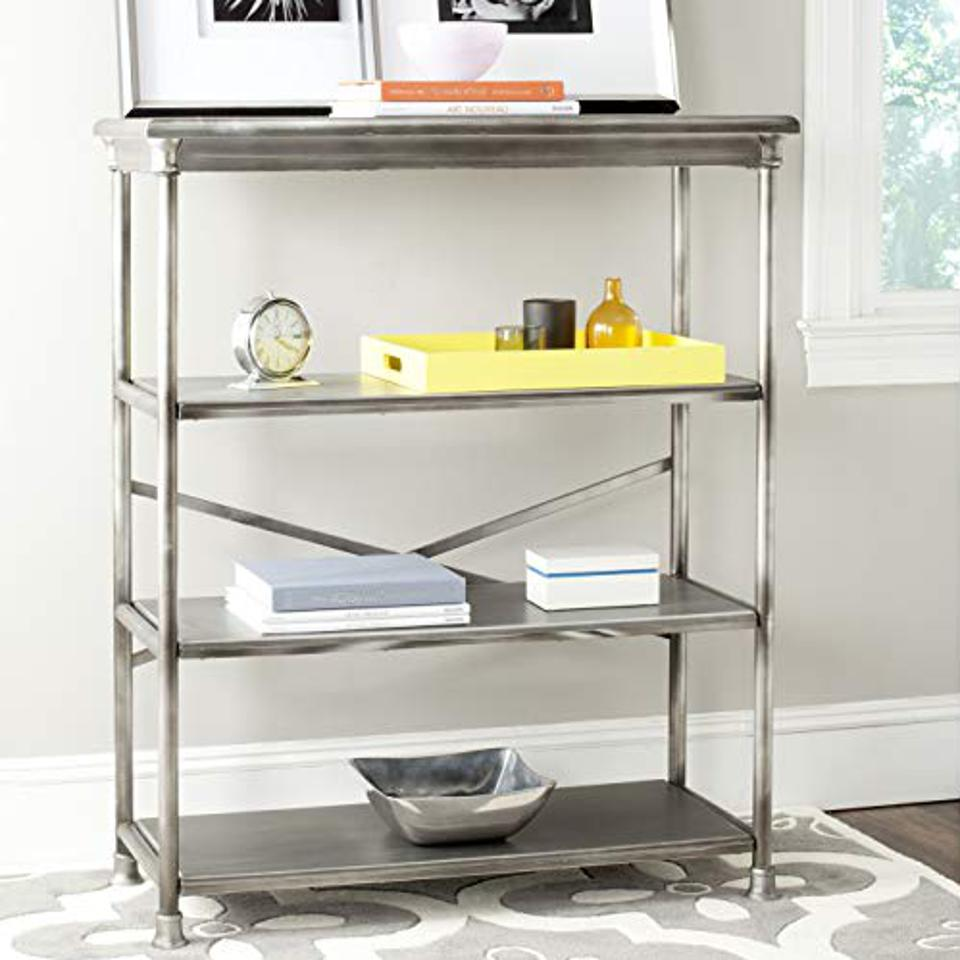 Safavieh American Homes Collection Jamison Dark Silver Large Bookcase