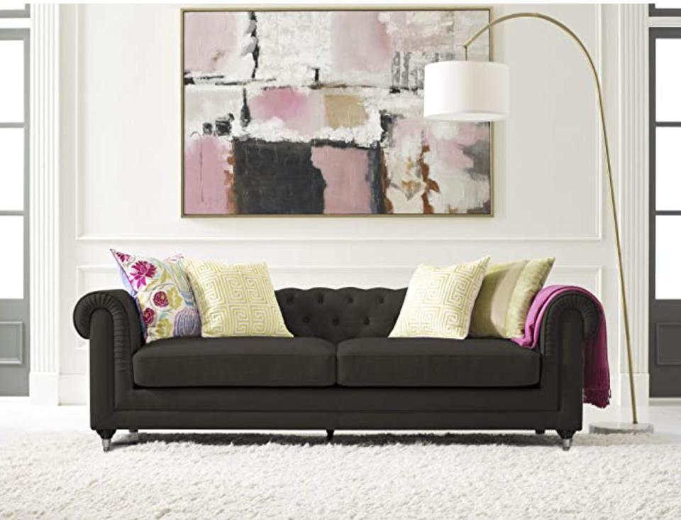 Elle Decor Amery Chesterfield Tufted Sofa, Mid-Century Modern