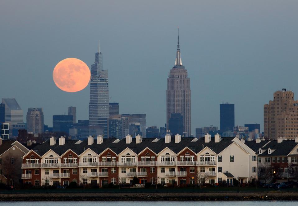 Moonrise in New York City