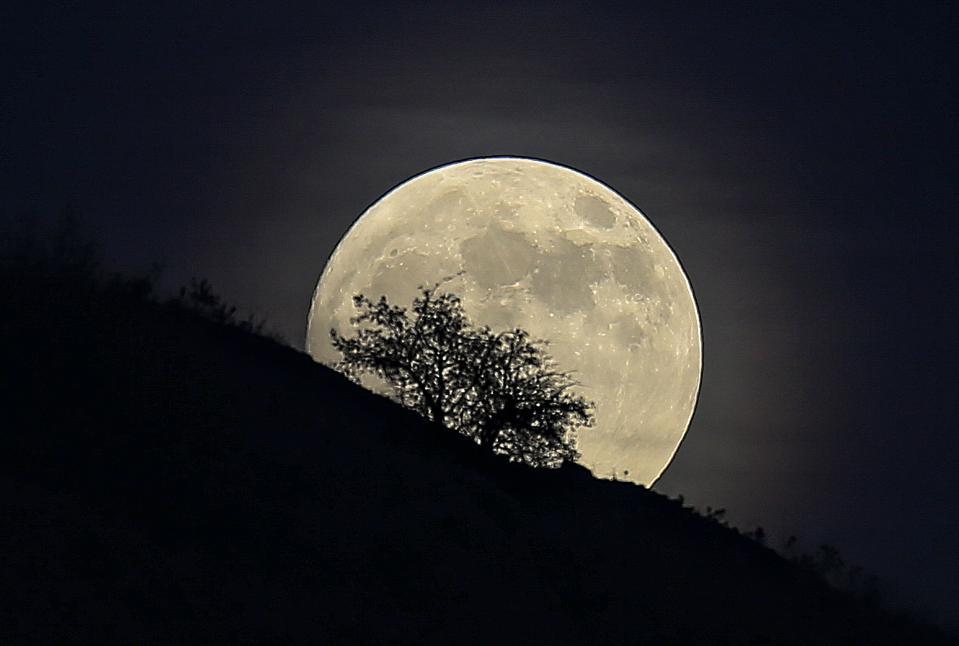 Full moon over Turkish capital