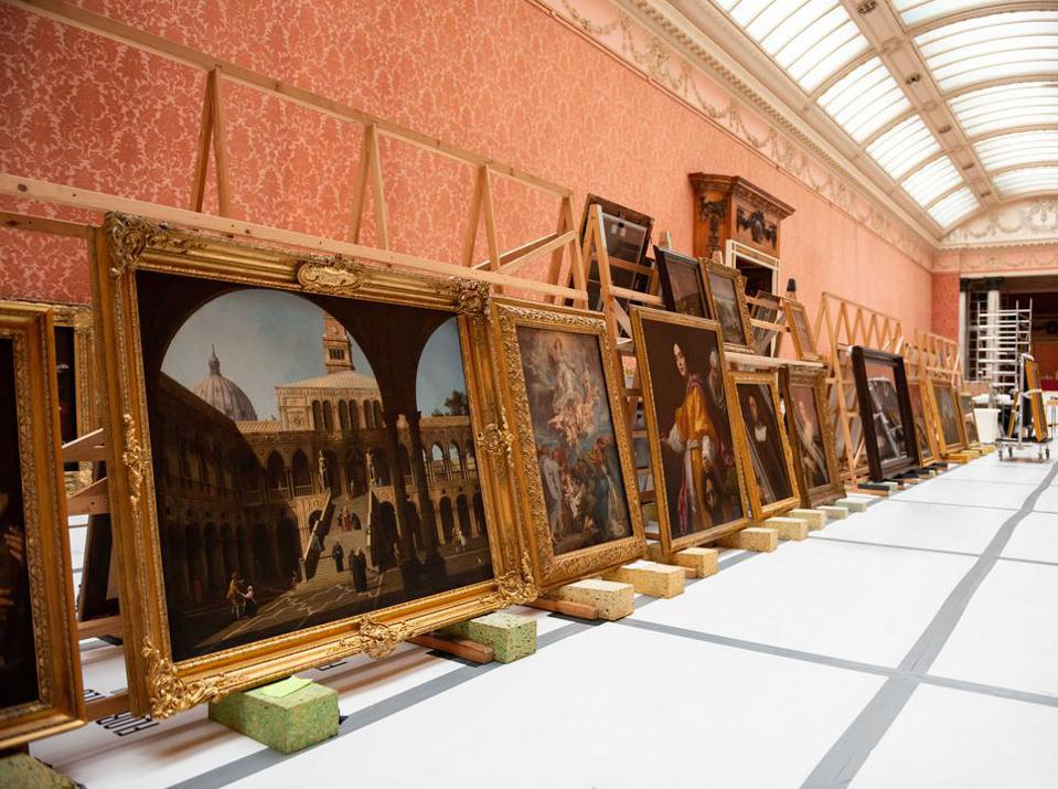 Paintings in the Picture Gallery at Buckingham Palace