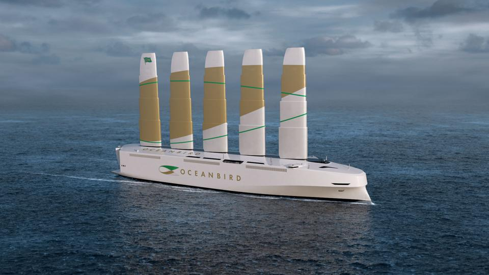 New ship design by Swedish industry cluster, Oceanbird using fixed sail wind propulsion