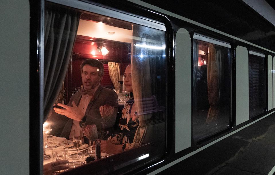 Travelers on the Rovos Rail train