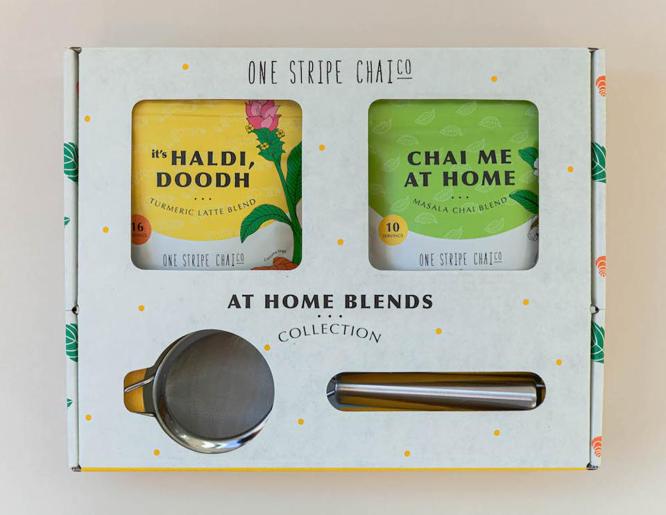 One Stripe Chai tea set