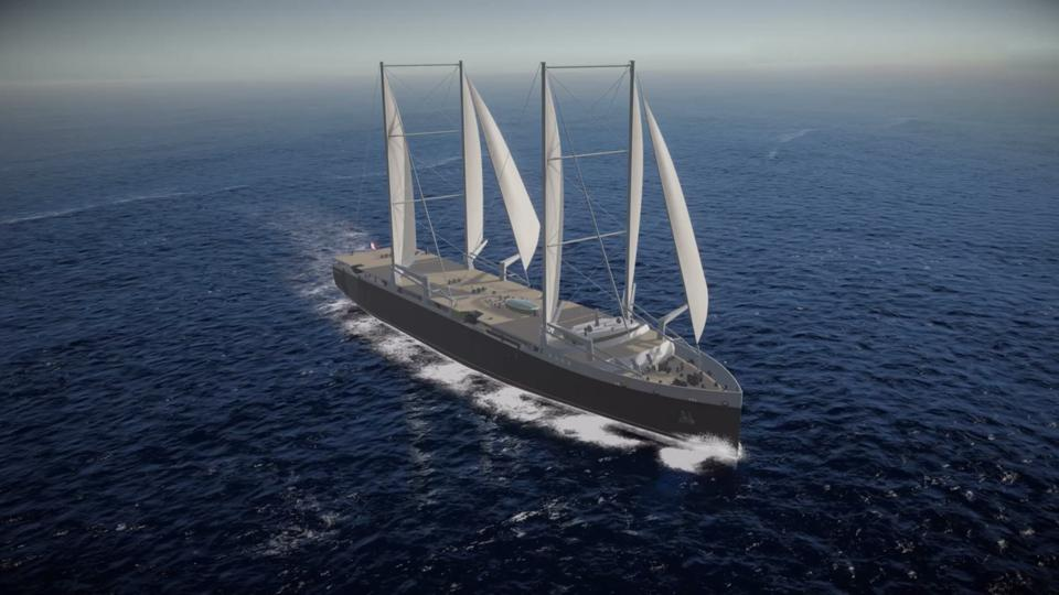 The Neoliner, the first sail-based concept for French company Neoline